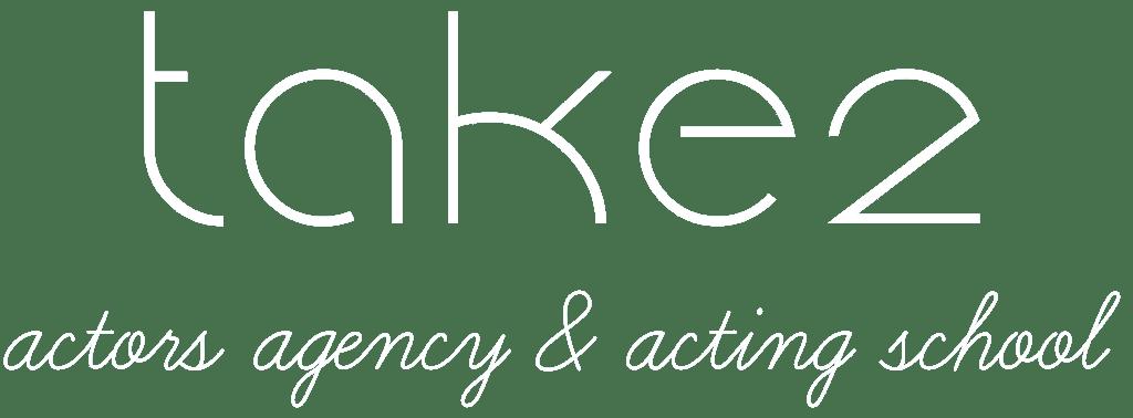 Take2 Casting Agency Logo white version